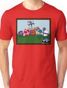 Polandball - Nordic family portrait  Unisex T-Shirt