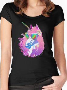 Fabulous Unicorn Princess Women's Fitted Scoop T-Shirt