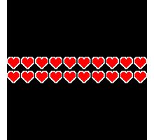 Pixel Hearts  Photographic Print