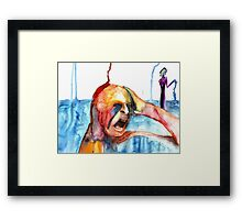 Happiness and Self-destruction Framed Print