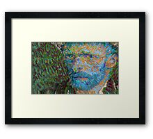 Vincent van Gogh Generative Portrait Variant Framed Print