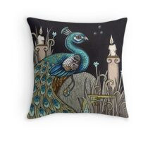 Mrs Peacock Throw Pillow