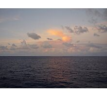 Cruise Sunset on the Atlantic Ocean Photographic Print