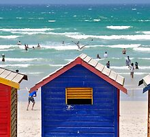 Beach huts and beach nuts by Karen01