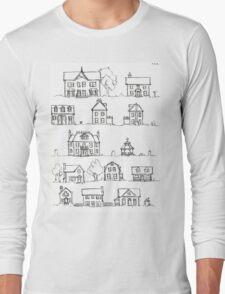 Sketching a Neighborhood Long Sleeve T-Shirt