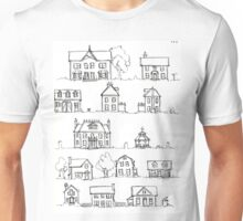 Sketching a Neighborhood Unisex T-Shirt