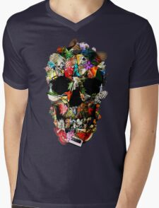 Fragile Skull 2 Mens V-Neck T-Shirt