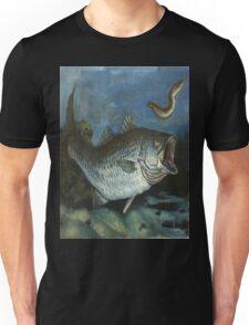 Striped Bass Chasing an Eel Unisex T-Shirt