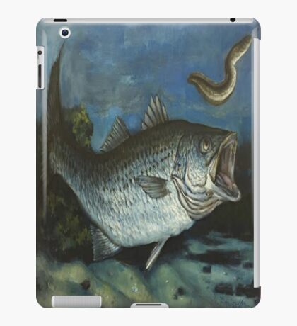 Striped Bass Chasing an Eel iPad Case/Skin