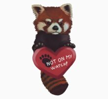 Not On My Watch - Red Panda With Heart One Piece - Short Sleeve