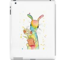 Peppermint Art Hare with Daffodils iPad Case/Skin