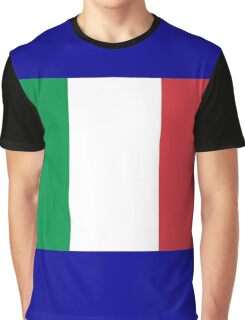 Italian Flag Graphic T-Shirt