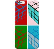 Eighties pop art cubes iPhone Case/Skin