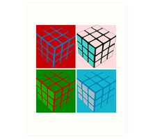 Eighties pop art cubes Art Print