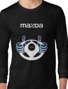 Mazda Eternal Flame Logo Blue Long Sleeve T-Shirt