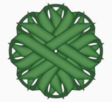 Green Flower Ribbon One Piece - Long Sleeve