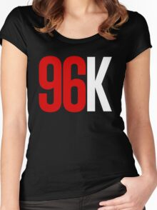 96k Inverted Colors Women's Fitted Scoop T-Shirt