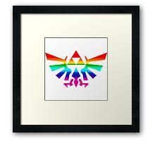 Triforce (Rainbow) Framed Print