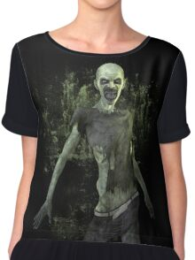 Scary Zombie T Shirt Women's Chiffon Top