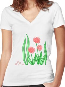 Winchester Blooms Women's Fitted V-Neck T-Shirt