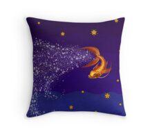 A Koi Among the Stars Throw Pillow