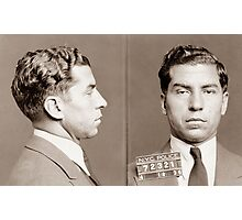 Lucky Luciano Mugshot  Photographic Print