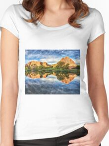 Colorful Colorado by Lena Owens/OLena Art Women's Fitted Scoop T-Shirt