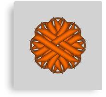 Orange Flower Ribbon Canvas Print