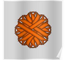 Orange Flower Ribbon Poster
