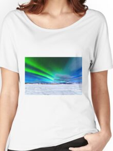 Intense display of Northern Lights Aurora borealis Women's Relaxed Fit T-Shirt