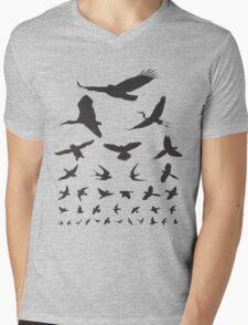 Birdwatching Eye Chart Modern Birding Gift Mens V-Neck T-Shirt
