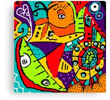 Mo-ism Abstract Art Canvas Print