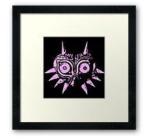 Majora's Mask (Pink) Framed Print
