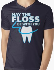 May The Floss Be With You - Funny Dentist T Shirt Mens V-Neck T-Shirt