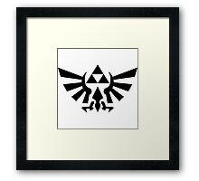 Triforce (Black) Framed Print