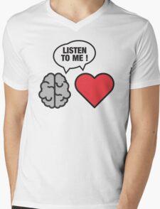 head vs. heart Mens V-Neck T-Shirt