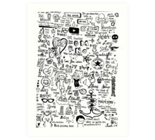 Dan and Phil (and other stuff) doodle.  Art Print