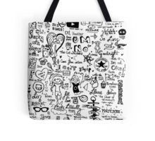 Dan and Phil (and other stuff) doodle.  Tote Bag