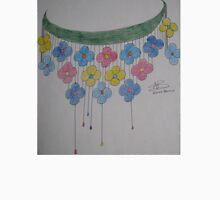 Necklace sketch with flowers Unisex T-Shirt