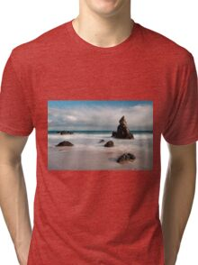 Rocky Beach on Sango Bay Tri-blend T-Shirt