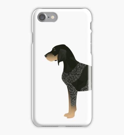 Bluetick Coonhound Basic Breed Silhouette Illustration iPhone Case/Skin