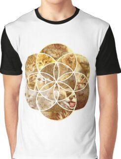 Kitten Geometric collage Graphic T-Shirt