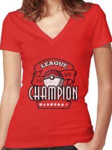 PokeChampionship Women's Fitted V-Neck T-Shirt