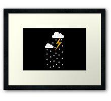 Rain Storm Framed Print