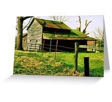 """""""Ol' Mossy Roof""""... prints and products Greeting Card"""