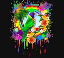 Rainbow Lorikeet Parrot Art Unisex T-Shirt
