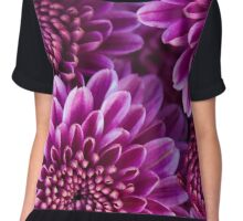 Purple Chrysanthemum 2 - fine art garden photography by Megan Campbell Chiffon Top