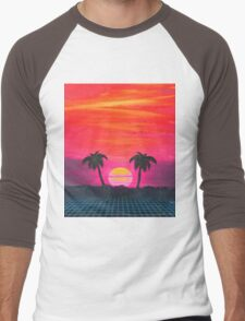 Retro sunset 2 Men's Baseball ¾ T-Shirt