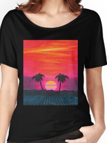 Retro sunset 2 Women's Relaxed Fit T-Shirt