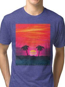 Retro sunset 2 Tri-blend T-Shirt